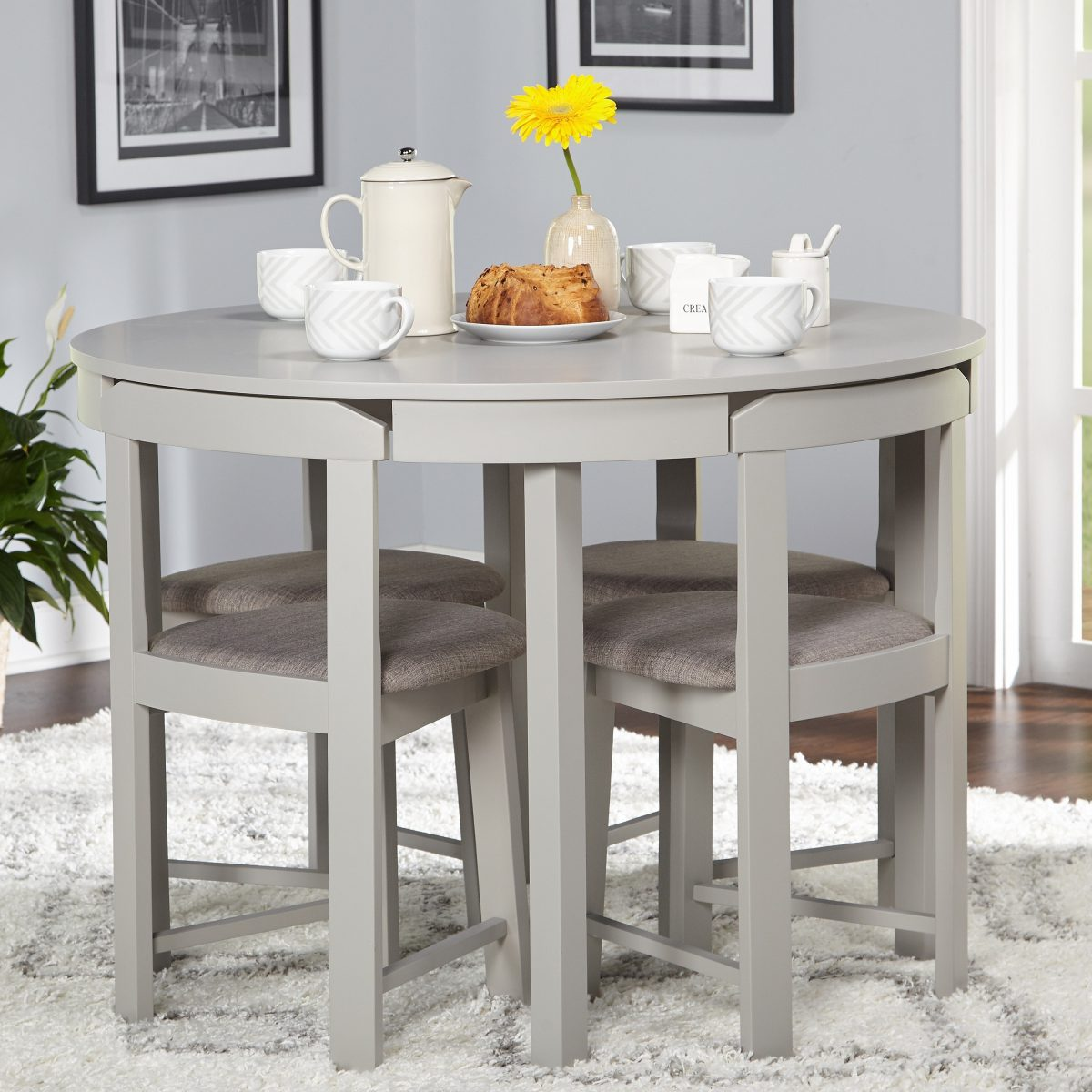 Simple Living 5-piece Tobey Compact Round Dining Set ...